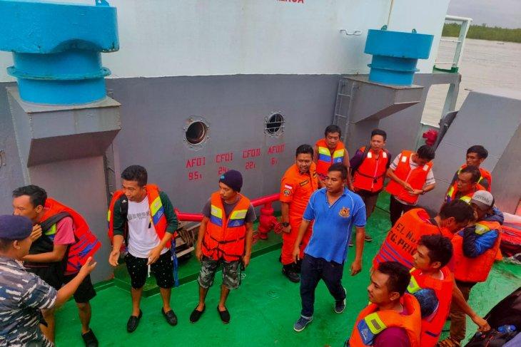 A cargo ship sinks in Belitung waters