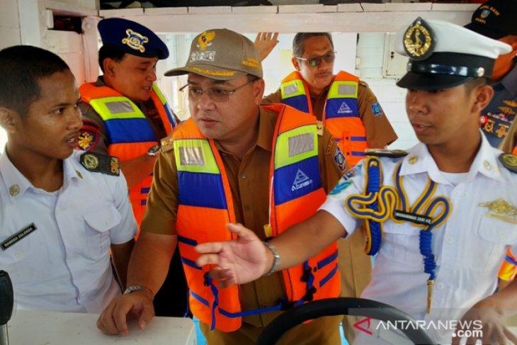 Gubernur Bangka Belitung tinjau dermaga kapal latih SMKN 4 Pelayaran