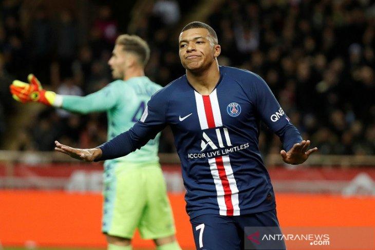 Mbappe dua gol, PSG menang 4-1 atas Monaco