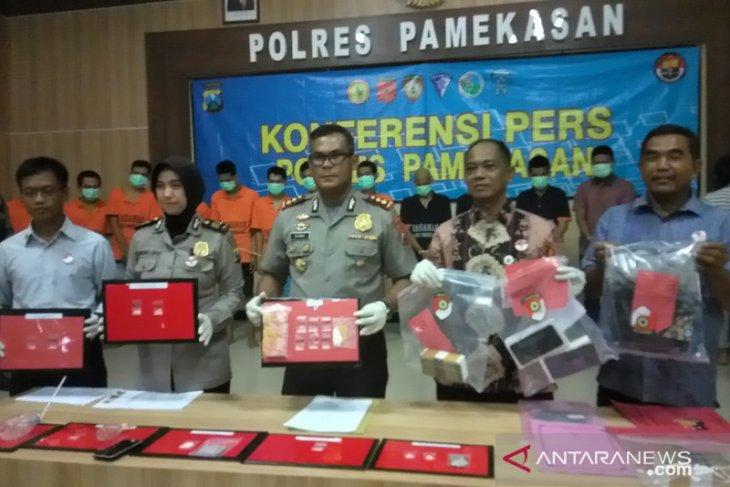 Operasi pekat, Polres Pamekasan ringkus 15 pelaku kriminal