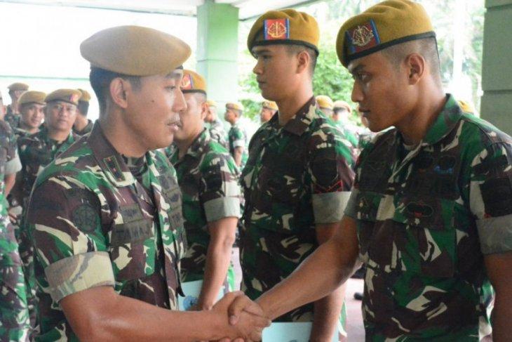 Batalyon Arhanud 11/WBW bertolak ke Kodam XVII/Cendrawasih