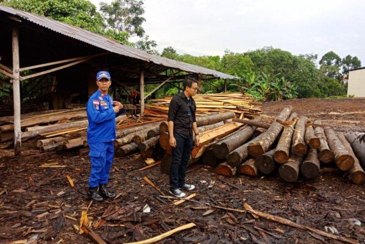 Ditpolair Polda Kalbar sita 850 batang log dan kayu olahan ilegal