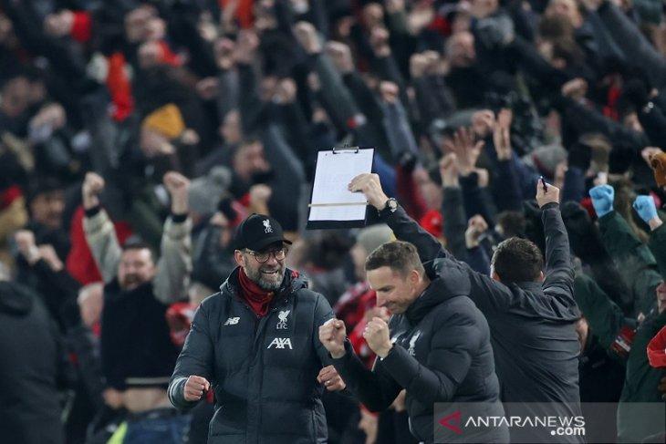 Hasil dan klasemen Liga Inggris: Liverpool unggul 16 poin dengan satu laga simpanan