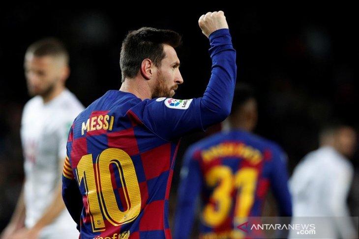 Lionel Messi memastikan debut Setien dan Barcelona berbuah kemenangan