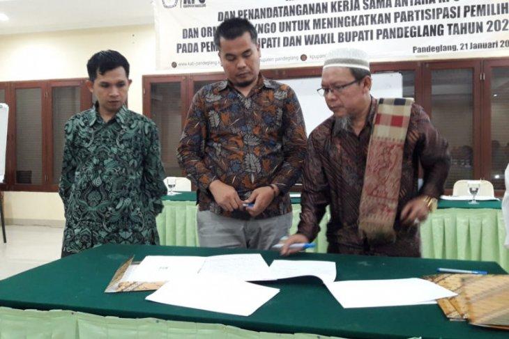 KPU Pandeglang gandeng 30 ormas dan OKP, dongkrak partisipasi pemilih,