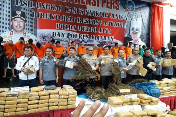 Jakarta Police seized 1.3 ton marijuana in Dec 2019-Jan 2020