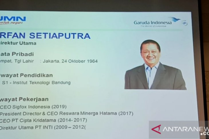Irfan Setiaputra installed as president director of Garuda Indonesia