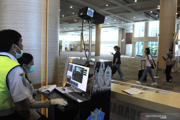 Thermal scanner at Bali airport to screen Wuhan corona virus