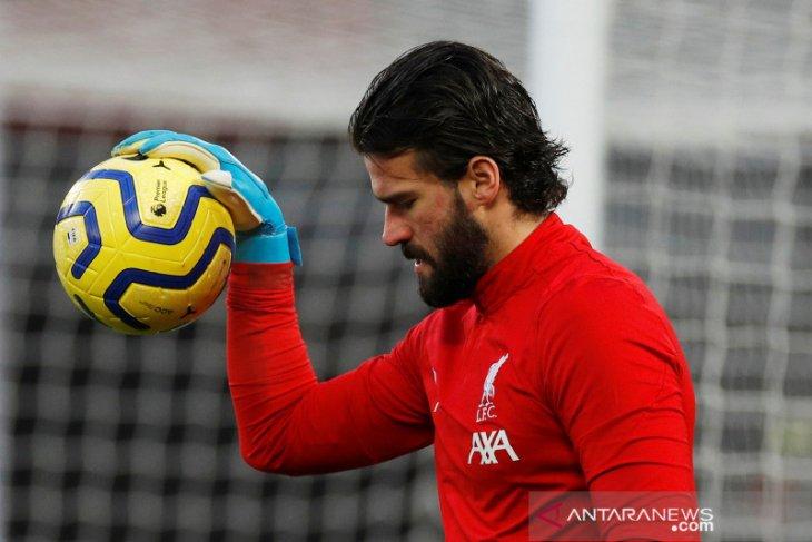 Liverpool tanpa Alisson saat lawan Bournemouth