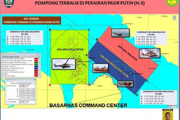 SAR Malaysia ikut membantu pencarian korban hilang kecelakaan kapal kayu di Perairan Riau