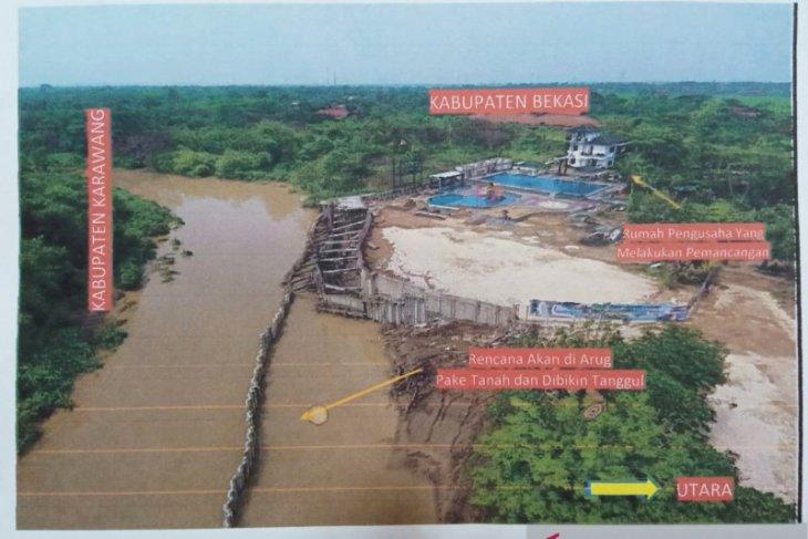 Pengurugan Sungai Cibeet untuk pembangunan wisata air dilaporkan ke Gubernur