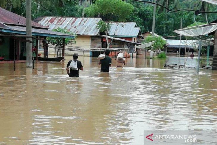 Ratusan rumah di Tapanuli Selatan dikepung banjir