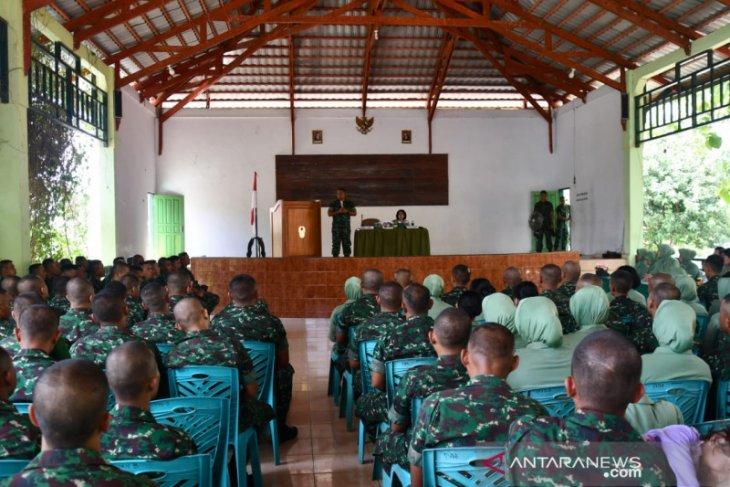 Danrem 133/Gorontalo ingatkan prajurit TNI patuhi peraturan