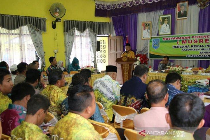 Bupati HSS buka Musrenbang Kecamatan Sungai Raya