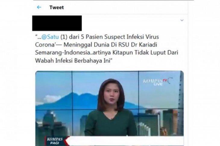 Medsos riuh ada postingan pasien terduga infeksi corona meninggal di Semarang, berikut faktanya