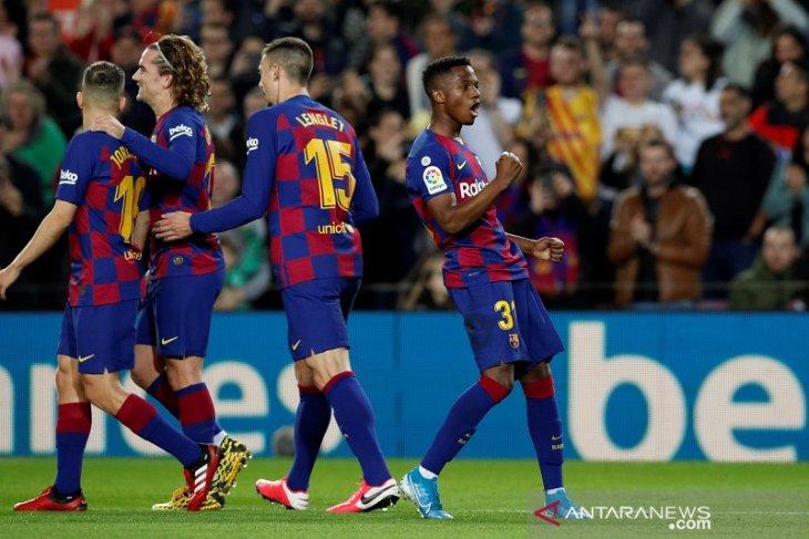Dua gol cepat Ansu Fati bawa Barcelona bekap tamunya Levante 2-1