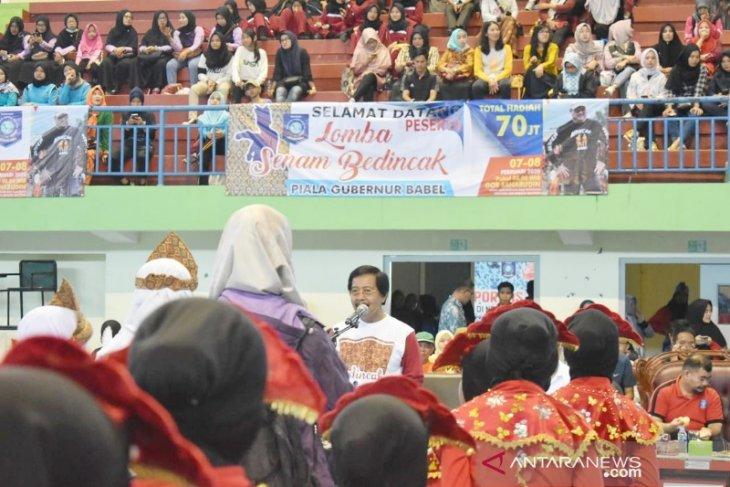 Wagub Babel Resmikan Lomba Senam Bedincak Piala Gubernur