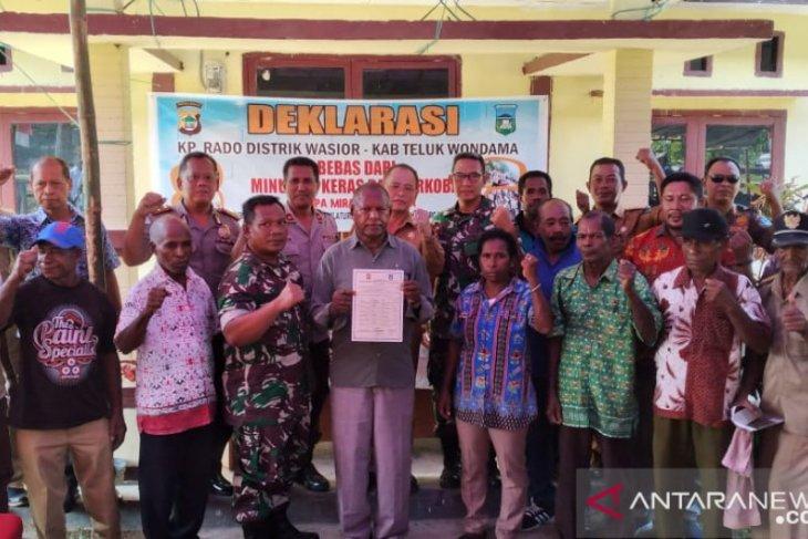 Kampung Rado, Wondama proklamirkan diri bebas miras-narkoba
