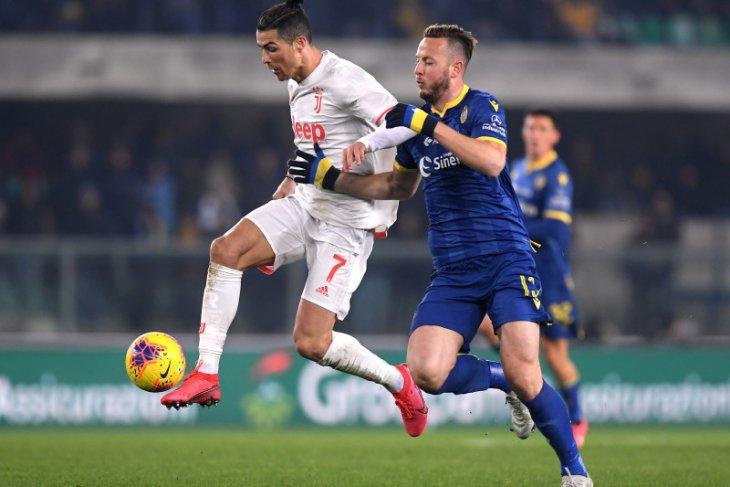 Hasil liga Italia, Juventus  ditekuk Verona 1-2