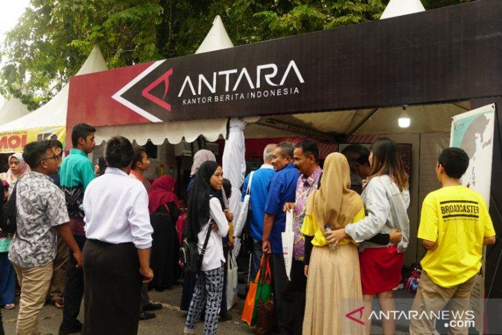 Di pameran HPN,  Booth ANTARA  diserbu peserta lomba presenter TV