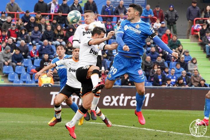 Getafe semakin nyaman di posisi ketiga setelah kalahkan Valencia 3-0