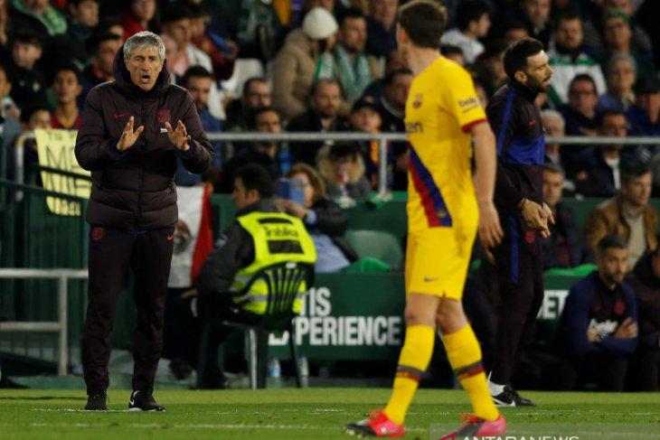 Setien puji kegigihan Barcelona saat kalahkan Real  Betis
