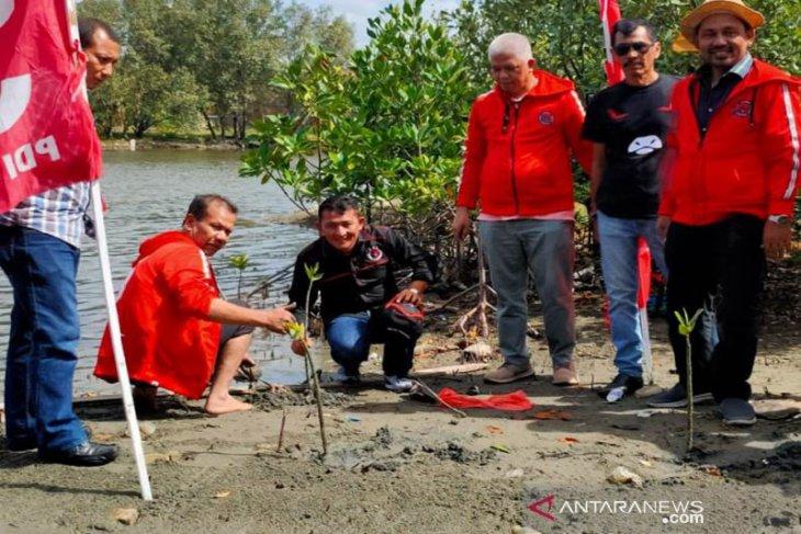 Kader PDI-P Aceh tanam mangrove jelang Rakerda