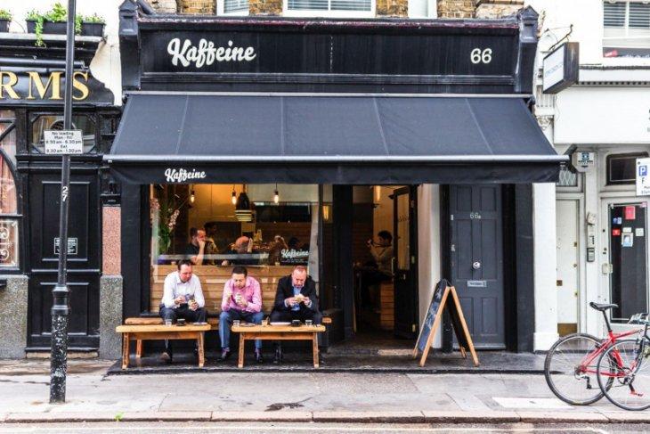 Kedai kopi mandiri di London melonjak 700 persen