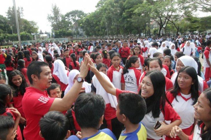 Guru olahraga di Pematangsiantar gelar pertandingan voli dan futsal