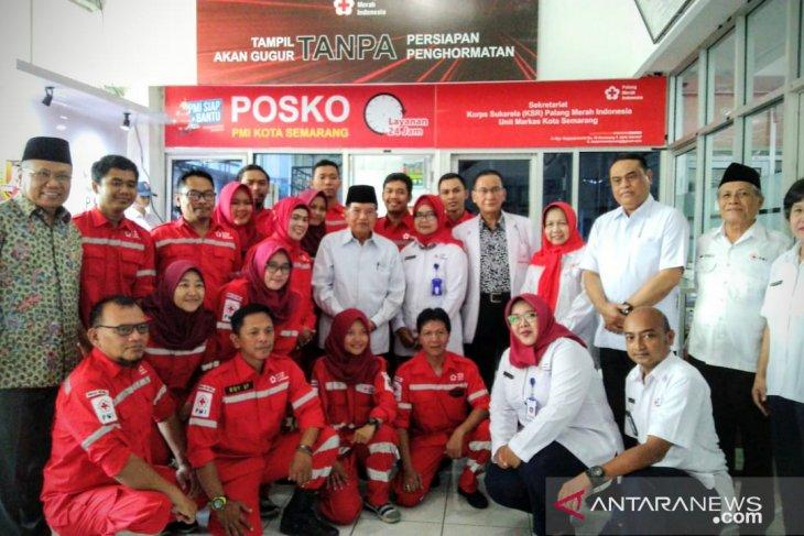 Jusuf Kalla mengapresiasi kinerja pelayanan PMI Jateng