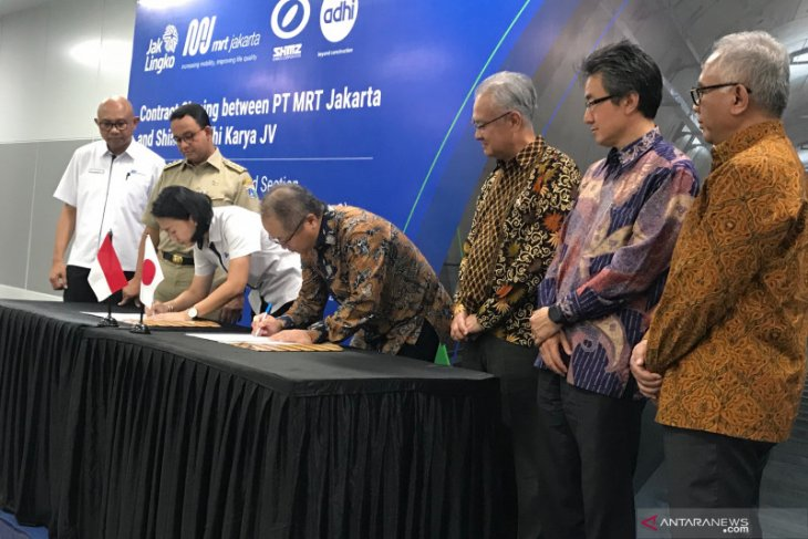 PT MRT, Shimizu-Adhi Karya ink contract to develop MRT Phase-2A