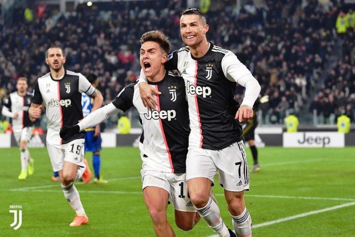 Juventus kian menjauh dari Inter Milan berkat kemenangan 2-0 atas Brescia