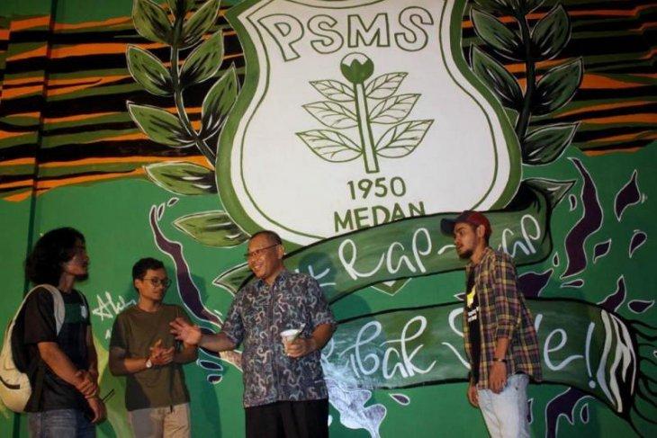 Pemkot Medan apresiasi mural di Stadion  Teladan