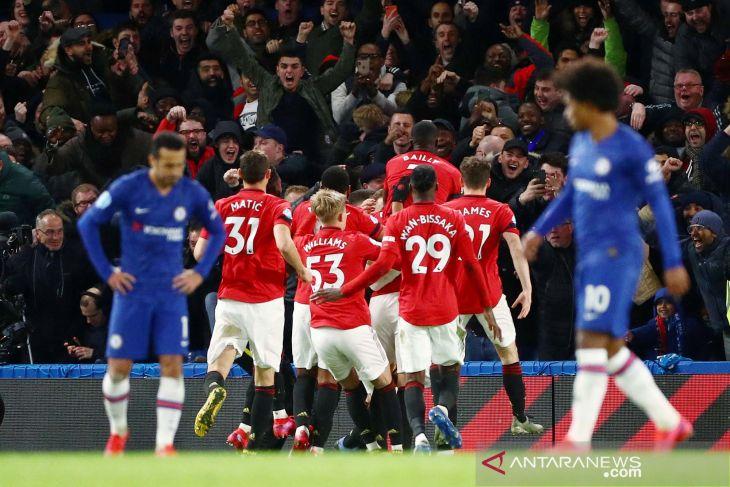 Gol Martial dan Harry Maguire perpanjang rekor kemenangan Manchester United atas The Blues