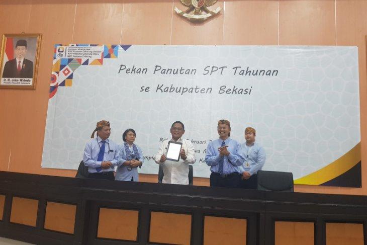 Tingkat kepatuhan wajib pajak Kabupaten Bekasi mencapai 55 persen