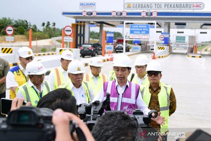 Presiden Jokowi resmikan Jalan Tol Pekanbaru-Dumai, ini harapannya