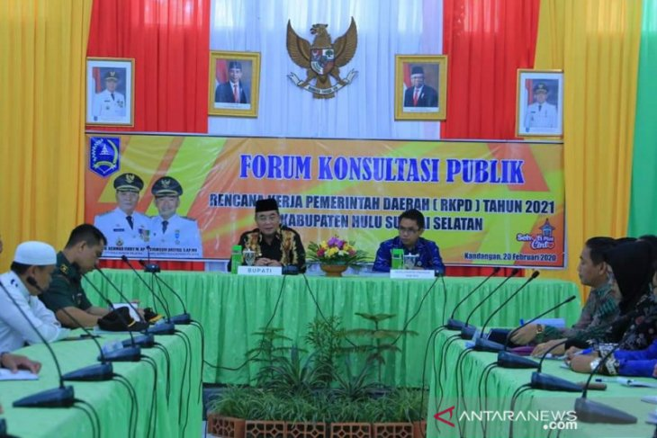 Bupati HSS buka forum konsultasi publik RKPD tahun 2021