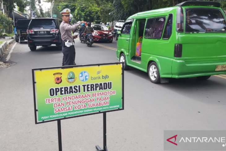Ratusan pengendara terjaring razia KTMDU di Kota Sukabumi