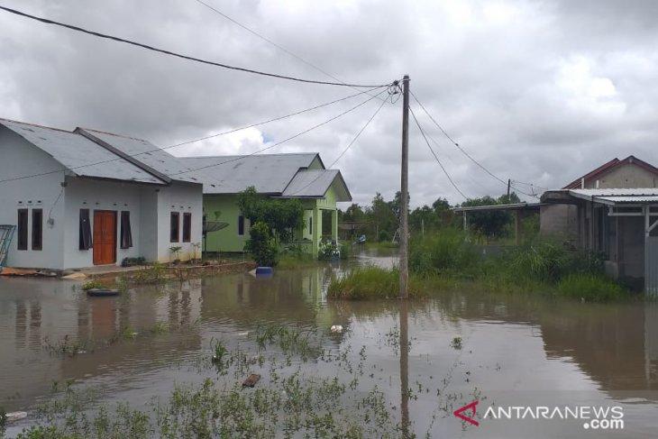 Permukiman warga di Belitung terendam akibat meluapnya sungai
