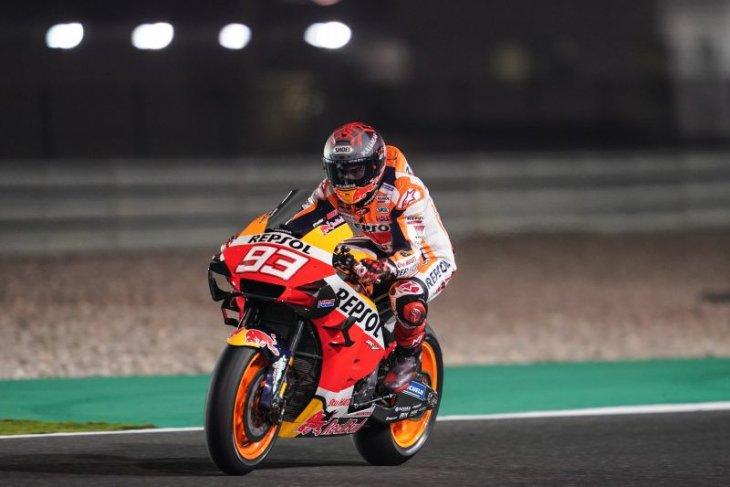 MotoGP, cedera bahu belum pulih, Marquez lebih kewalahan di Qatar