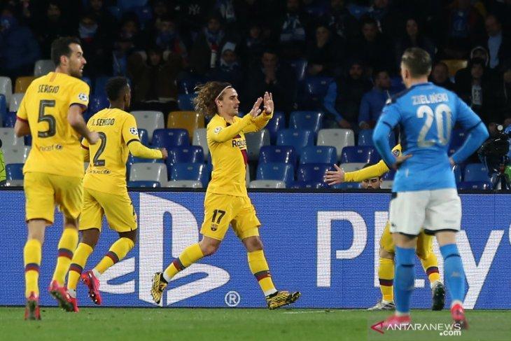 Antoine Griezmann akui Barca kesulitan menciptakan ruang saat hadapi Napoli