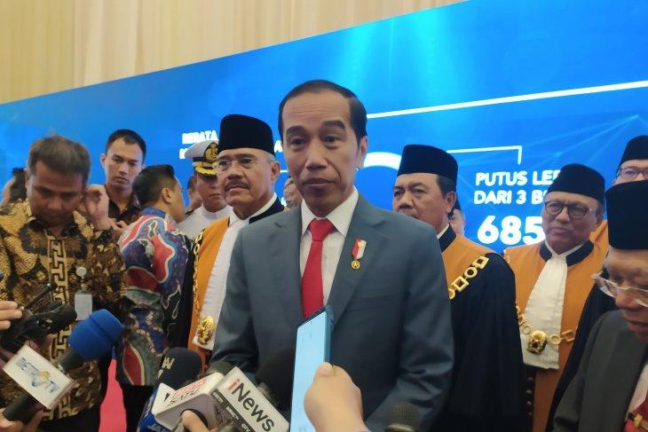 Presiden Jokowi belum pikirkan