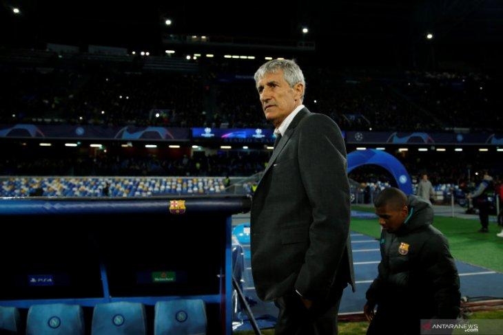 Berita dunia - Quique Setien optimistis Barcelona kalahkan Napoli di leg kedua