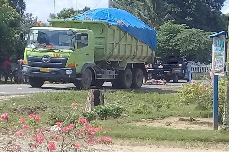 Bocah kelas 1 SD tewas mengenaskan dilindas truk angkut tanah timbun