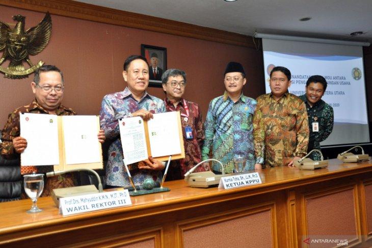 Cegah praktik usaha tidak sehat, KPPU RI teken MoU dengan Universitas Sumatera Utara