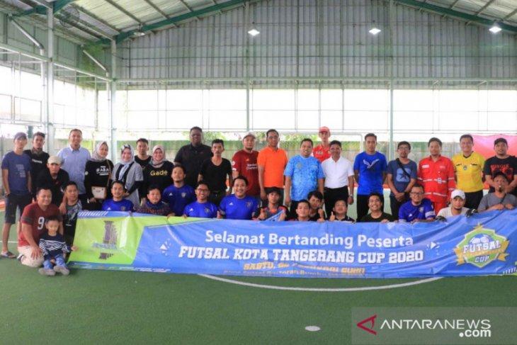 Organisasi wartawan Se-Tangerang Raya gelar futsal pererat kebersamaan