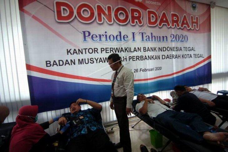 Donor darah pegawai Bank Indonesia