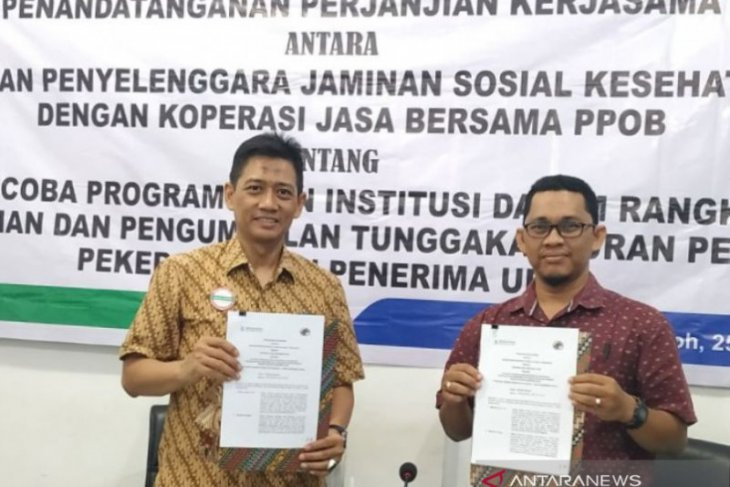 Cegah tunggakan, BPJS Kesehatan Meulaboh jalin kerjasama agen PPOB di Aceh
