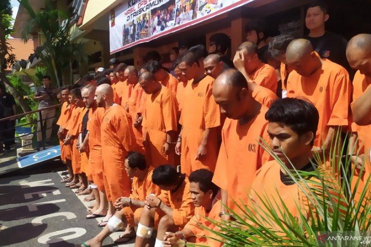 Polda Bali tangkap 70 tersangka dalam Operasi Sikat Agung