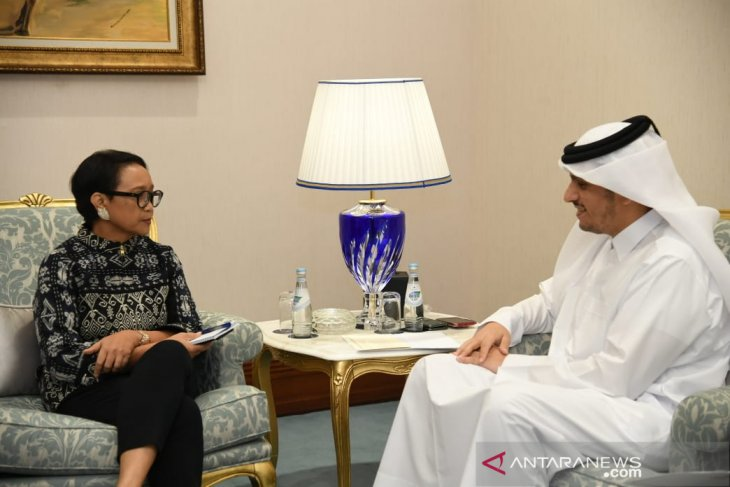 Retno Marsudi holds six bilateral meetings in Doha